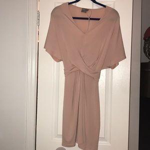 Asos criss cross tie waist mini dress